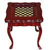 Cherry Mahogany Chess or Checkers Game Table