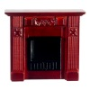 Carved Mahogany Wood Fireplace