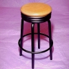 Wood and Metal Diner Counter Stool