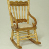 Solid Wood Oak Rocker with Rope Seat