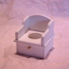 White Wood Potty Chair