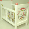 White Wood Baby Crib
