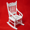 White Solid Wood Rocker with Rope Seat