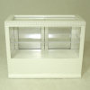 White Dentil Edge Diner Bakery or Store Display Cabinet