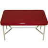 Red and Silver 1950s Style Diner or Kitchen Table