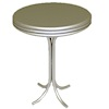 Tall Silver Metal Bistro Diner or Cafe Bar Table