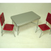 1950's Vintage Style Table and Red Chairs Set