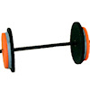 Miniature Black and Orange Barbell