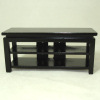 Dollhouse Black Wood Widescreen TV Stand or Entertainment Center