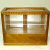 Walnut Dentil Edge Diner Bakery or Store Display Cabinet
