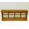 Long Walnut Wood Store Counter Display Case