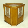 Walnut Dentil Edge Diner Bakery or Store Corner Display Cabinet