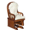 Walnut Glider Rocker with Soft Cushions