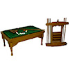 Complete Pool Table Set with Pool Cue Rack