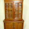 Wood Lincoln Bookcase or China Display Cabinet