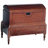 Opening Lincoln Domed Wood Chest