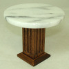 Low Marble and Wood Bar or Diner Table