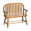 Colonial Windsor Bench Walnut Wood