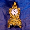 Ornate Gilded Mantle Clock