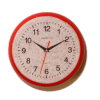 Round Red Kitchen Wall Clock