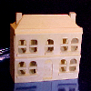 Natural Wood Dollhouse with Removable Front