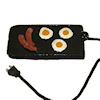 Electric Griddle with Bacon and Eggs