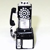Miniature 1950s Style Pay Phone Telephone