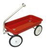Red Metal Wagon with Working Wheels and Steering