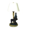 Working Rustic Moose and Tree Table Lamp
