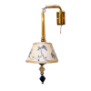 Artisan Lighting Blue Floral Shade Swiveling Wall Lamp