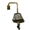 Artisan Crafted Working Zebra Shade Swiveling Wall Lamp