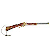 Handcrafted Dollhouse Flintlock Rifle with Powder Horn