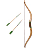 Miniature Wood Recurve Bow With Green Arrows