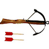 Handcrafted Wood Renaissance Crossbow with Arrows