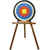 Archery Target On Folding Wood Stand