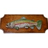 Rainbow Trout Fish Trophy Mounted on Wood Plaque