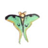 Green Luna Moth Butterfly Artisan Crafted