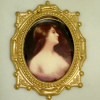 Ornate Gilded Framed Noble Victorian Lady Portrait