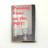 Printed Hardcover Bathroom Book Passing Time On The Pot