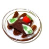 Taylor Jade Chocolate Italian Cannoli on Glass Plate
