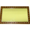 Large Taylor Jade Handcrafted Inlaid Wood Frame Mirror