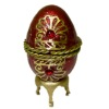 Opening Imperial Red Jeweled Egg With Necklace