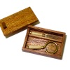 Taller Targioni Wood Handle Magnifier and Letter Opener in Box