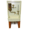Taller Targioni Sink With Hot Water Heater and Cold Water Pipes