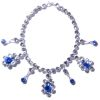 Ursula Sturmer Wearable Sapphire and Crystal Silver Necklace