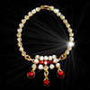Ursula Sturmer Wearable Ruby Teardrops Crystal Necklace