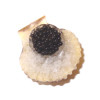 Handcrafted Caviar On Ice In Scallop Shell