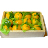 Wood Fruit Crate Filled With Oranges