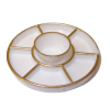 Divided Party Platter with Bowl Gilded Edge