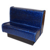 Artisan Crafted Blue Sparkle Upholstered Diner Booth Seat